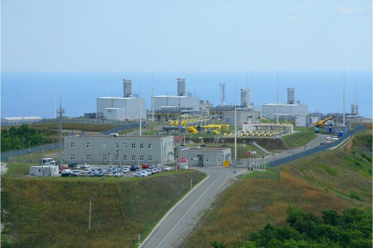 Beregovaya compressor station, Blue Stream gas pipeline (copyright by Gazprom)