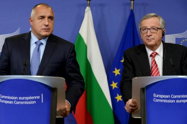 Boyko Borissov, on the left, and Jean-Claude Juncker (© 2014 European Union)