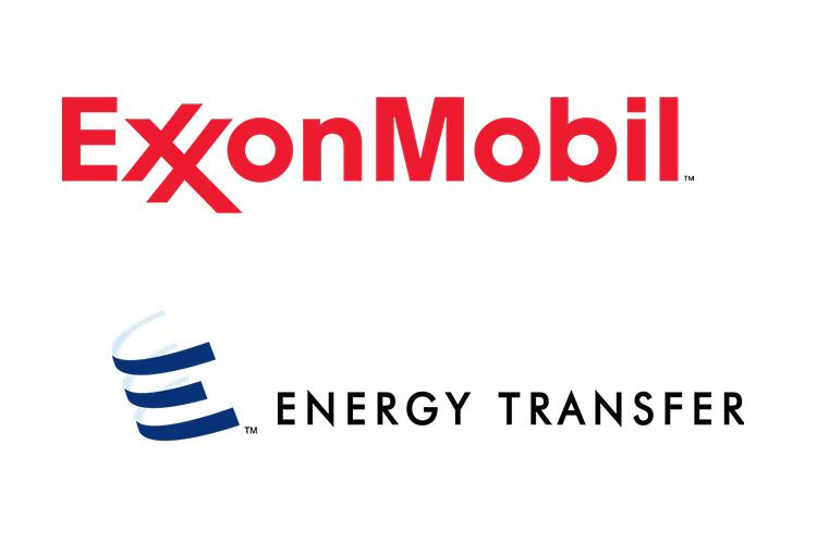 Logos of Exxon Mobil & Energy Transfer (coypright by Exxon Mobil & Energy Transfer)