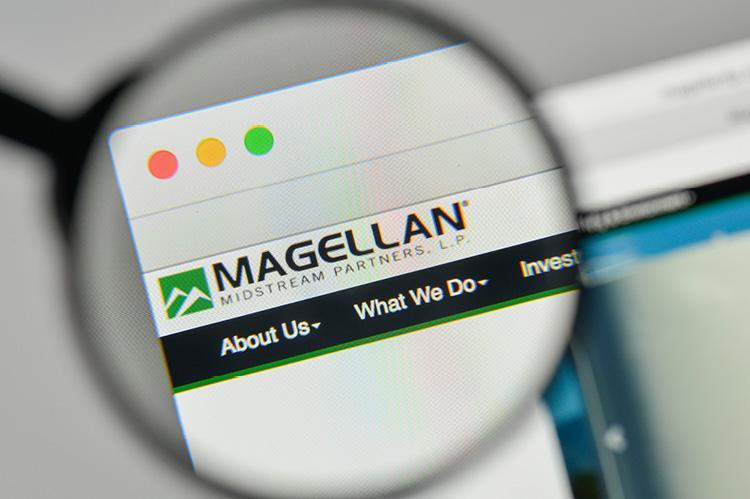 Magellan Midstream Partners logo on the website homepage (copyright by Shutterstock/Casimiro PT)