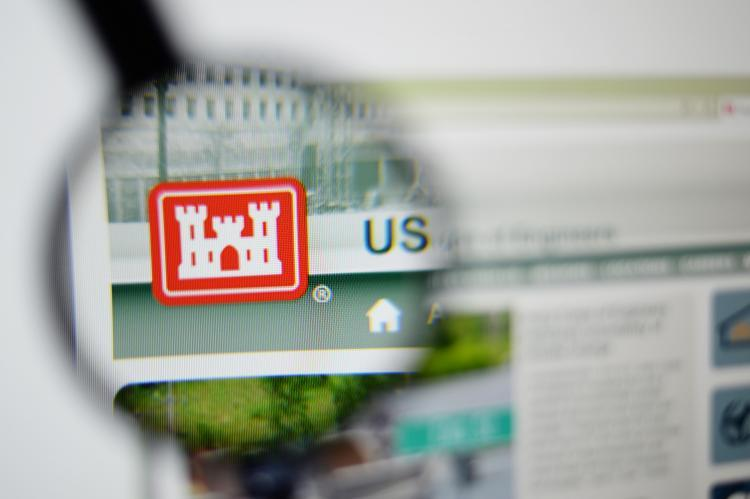 United States Army Corps of Engineers through a magnifying glass (copyright by Shutterstock/Gil C)