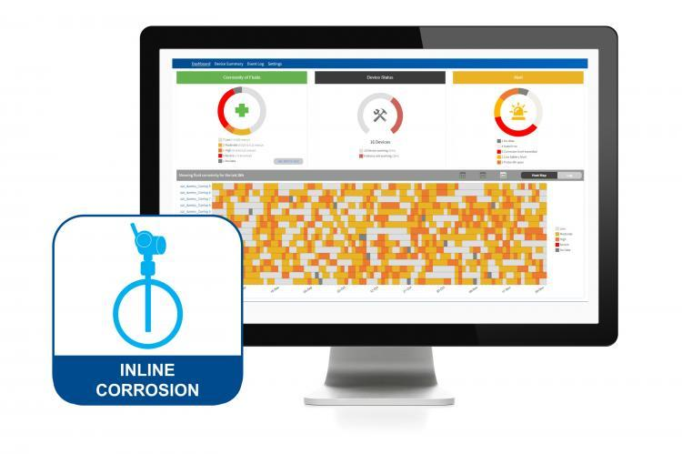 The Plantweb™ Insight Inline Corrosion Application dashboard is equipped with alerts and an intuitive heatmap. (Copyright by Emerson)