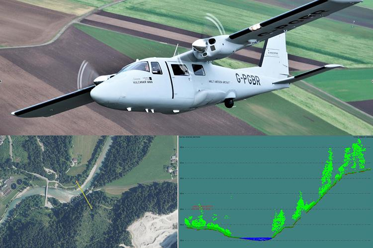 River crossing and water crossing survey by airborne bathymetric laser scanning - Case study TAG