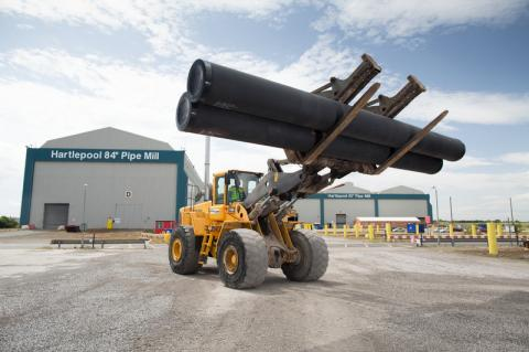 the TATA Steel tubes 84 inch mill in Hartlepool (© 2015 Tata Steel company)