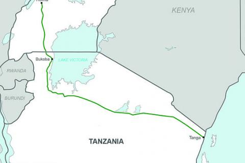 Uganda–Tanzania Crude Oil Pipeline (© 2016 By Sputink (Own work) [CC BY-SA 4.0 (http://creativecommons.org/licenses/by-sa/4.0)], via Wikimedia Commons)