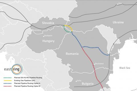 Map of Eastring Pipeline (© 2016 Eastring)