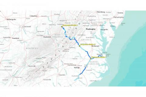 Atlantic Coast Pipeline Map (copyright by Atlantic Coast Pipeline)