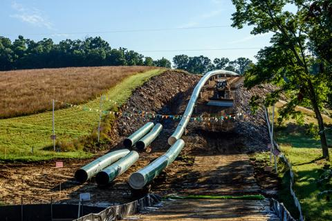 Construction of the Mountain Valley Pipeline (copyright by Shutterstock/Malachi Jacobs)