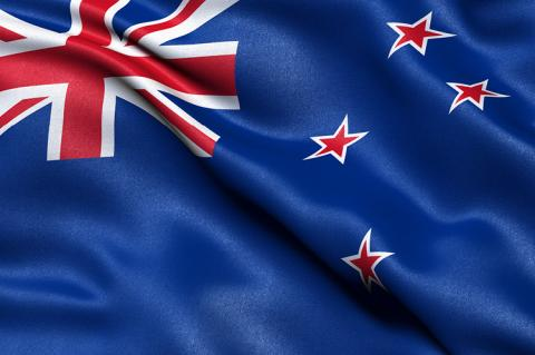 Flag of New Zealand (copyright by Shutterstock/Carsten Reisinger)
