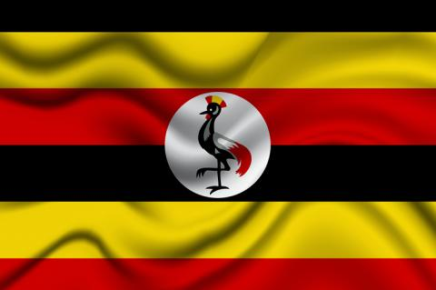 National flag of Uganda (copyright by Shutterstock/Akshay Dhameliya)