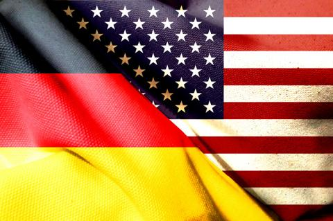 Flags of Germany and the USA (copyright by Shutterstock/Andy.LIU)