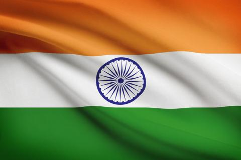 The Indian flag (copyright by Shutterstock/Niyazz)