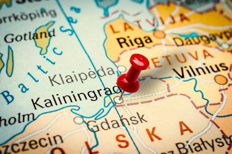 Kaliningrad on the map (copyright by Shutterstock/andriano.cz)