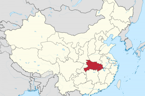 Location of Hubei Province in China (By TUBS [GFDL (http://www.gnu.org/copyleft/fdl.html) or CC BY-SA 3.0 (http://creativecommons.org/licenses/by-sa/3.0)], via Wikimedia Commons)