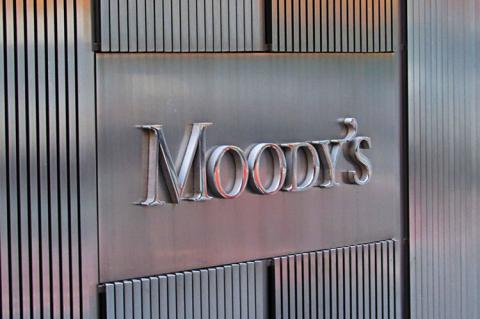 Moody's Investor Services sign outside 7 World Trade Center in Lower Manhattan (copyright by Shutterstock/Daniel J. Macy)