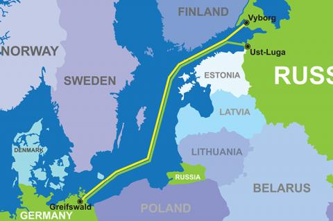 Route of Nord Stream 2 (copyright by Shutterstock/MurzilA)