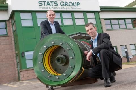 BGF's Simon Munro with STATS Group CEO Pete Duguid