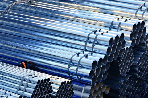 Cylindrical steel pipes (copyright by Shutterstock/khan3145)