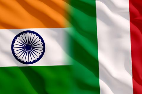 Waving flags of India and Italy (copyright by Shutterstock/Onur Akkurt)
