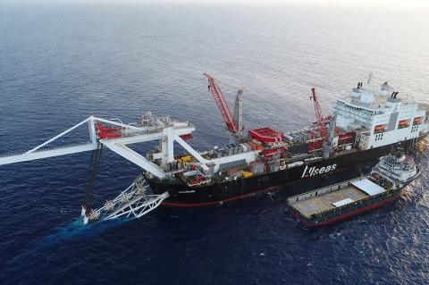 """Audacia"" Begins Pipelay Works for Nord Stream 2 (Copyright by Allseas)"