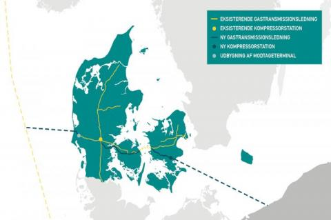 Map of Baltic Pipe project