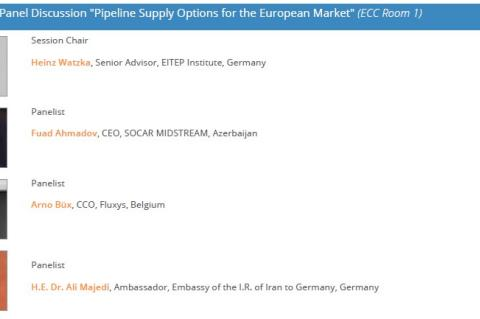 "ptc 2016 Opening panel discussion on ""Pipeline Supply Options for the European Market"", 23 May 2016, Berlin"
