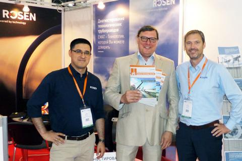 The Russian issue of Pipeline Technology Journal was presented to numerous pipeline companies like ROSEN at MIOGE 2018