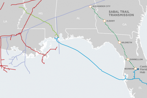 Contested Sabal Trail Pipeline now operational (copyright: Spectra Energy)