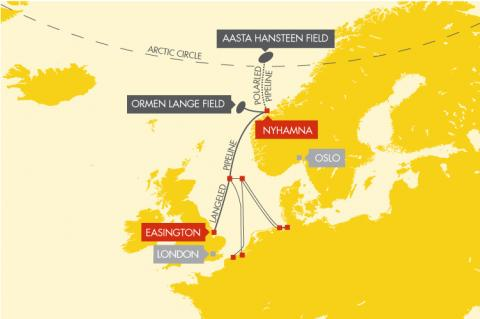 Ever More Natural Gas From the Norwegian Sea Bound for Continental Europe (© 2015 shell)