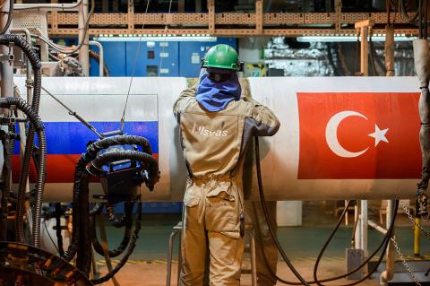 TurkStream: Construction of receiving terminal begins (Copyright: TurkStream)