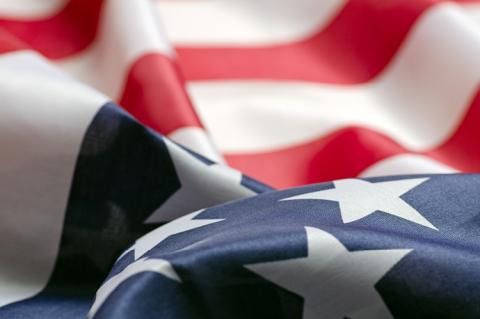 The flag of the USA (copyright by Shutterstock/Graeme Dawes)