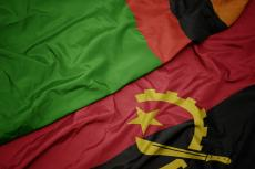 Flags of Zambia and Angola (copyright by Shutterstock/esfera)