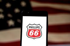 Phillips 66 logo on a smartphone screen (copyright by Shutterstock/rafapress)