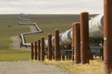 Pipeline near Pump Station 3 (Copyright by Alyeska Pipeline)