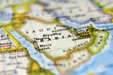 Saudi Arabia on the map (copyright by Shutterstock/Marcio Jose Bastos Silva)