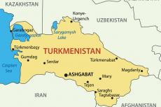 Turkmenistan map (copyright by Shutterstock/pavalena)