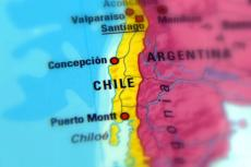 The Republic of Chile on the map (copyright by Shutterstock/Jarretera)